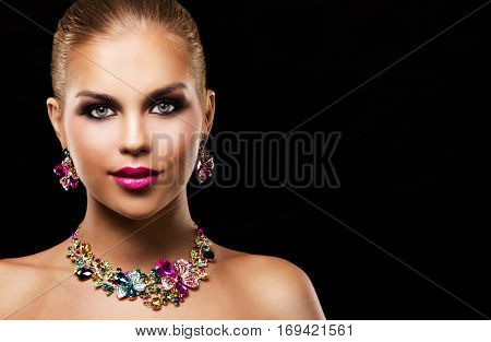 Fashion Spring Summer Blond Woman With Perfect Skin