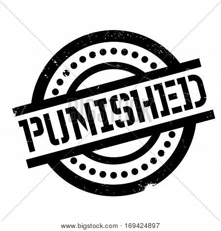 Punished rubber stamp. Grunge design with dust scratches. Effects can be easily removed for a clean, crisp look. Color is easily changed.