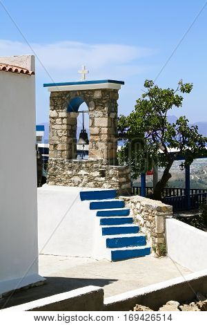 Small bell tower on the island of Kos. Greece