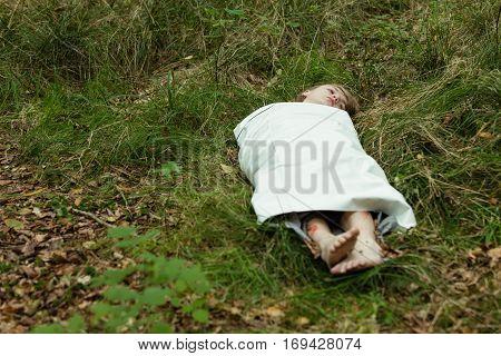 Dead Boy Body Wrapped Paper