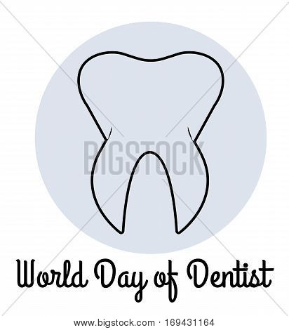 Vector illustration of World Day of Dentist for your design.