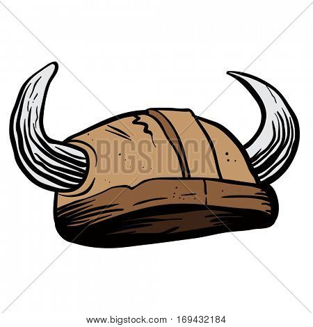 viking helmet cartoon illustration