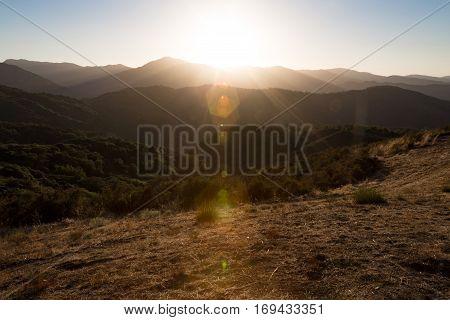 A lens flare near Carmel Valley California.