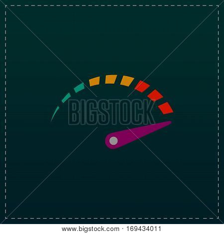 Performance measurement. Color symbol icon on black background. Vector illustration