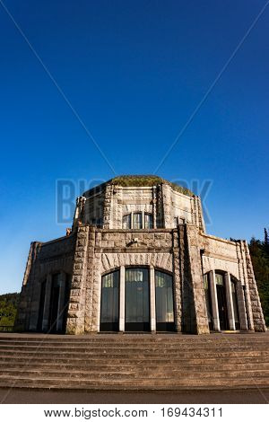 The Vista House overlooking the Columbia River near Portland Oregon