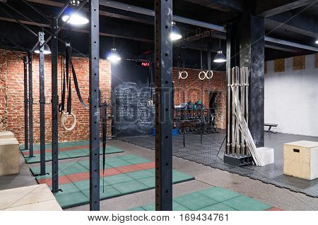 Interior of a contemporary cross - fit gym