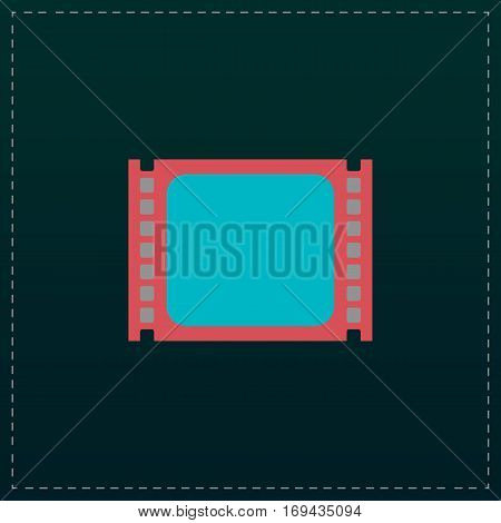 Simple Media player. Color symbol icon on black background. Vector illustration