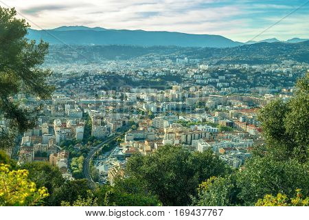 Wonderful panoramic view of Nice - Cote d'Azur - France