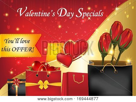 Valentine's Day Specials.You'll love this offer - business sales background Format A3