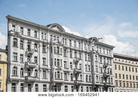 Poland warsaw similar flatiron building white facade classic culture design