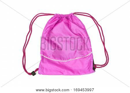 Pink drawstring bags for people with an active lifestyle