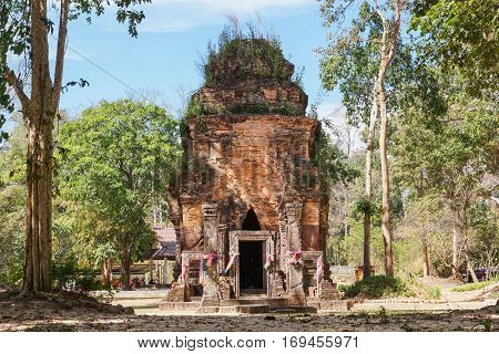 Don Tuan Khmer Ruins built during the 15th -16th Centuryat Khao Phra Wihan National Park Thailand - Part of Khmer Empire in 11th century