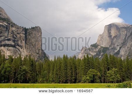 Half Dome And Royal Arches In Yosemite Valley