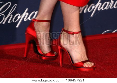 PALM SPRINGS - JAN 2:  Laura Linney's shoes at the Palm Springs International FIlm Festival Gala at Palm Springs Convention Center on January 2, 2017 in Palm Springs, CA
