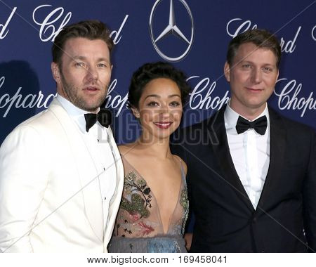 PALM SPRINGS - JAN 2:  Joel Edgerton, Ruth Negga, Jeff Nichols at the Palm Springs International FIlm Festival Gala at Palm Springs Convention Center on January 2, 2017 in Palm Springs, CA