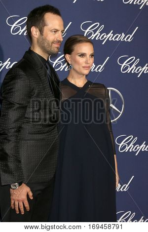 PALM SPRINGS - JAN 2:  Benjamin Millepied, Natalie Portman at the Palm Springs International FIlm Festival Gala at Palm Springs Convention Center on January 2, 2017 in Palm Springs, CA