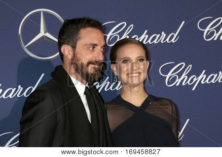PALM SPRINGS - JAN 2:  Pablo Larrain, Natalie Portman at the Palm Springs International FIlm Festival Gala at Palm Springs Convention Center on January 2, 2017 in Palm Springs, CA