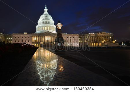 United States Capitol Building at night - Washington DC USA