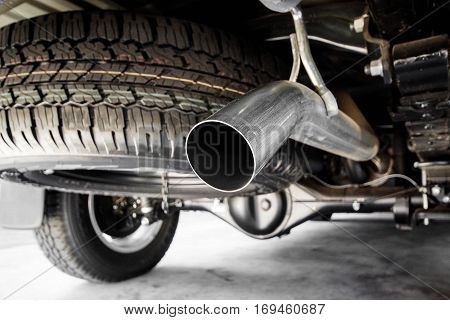 Exhaust pipe of a truck / part of car