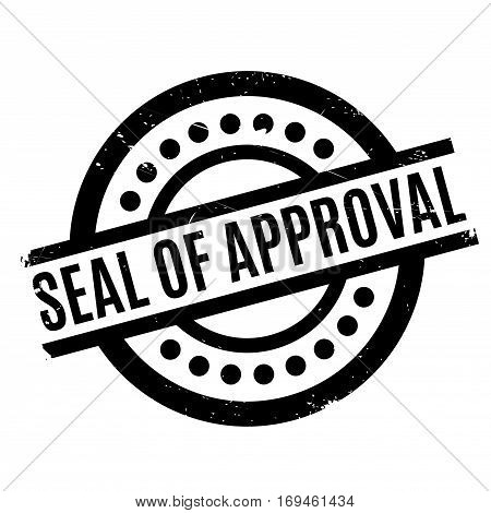 Seal Of Approval rubber stamp. Grunge design with dust scratches. Effects can be easily removed for a clean, crisp look. Color is easily changed.