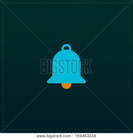 Bell. Color symbol icon on black background. Vector illustration