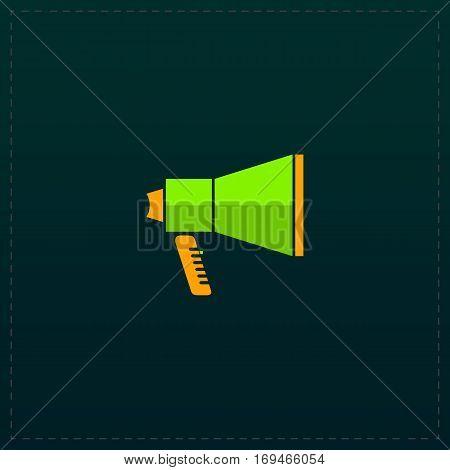 Mouthpiece. Color symbol icon on black background. Vector illustration