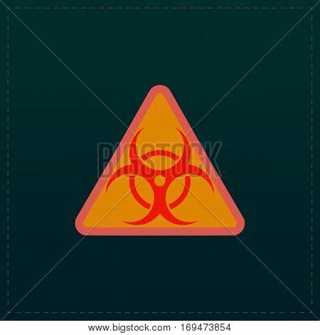 Biohazard. Color symbol icon on black background. Vector illustration