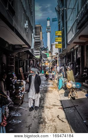 Narrow Street In Afghanistan