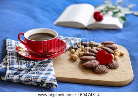 Festive Breakfast In Bed Concept.