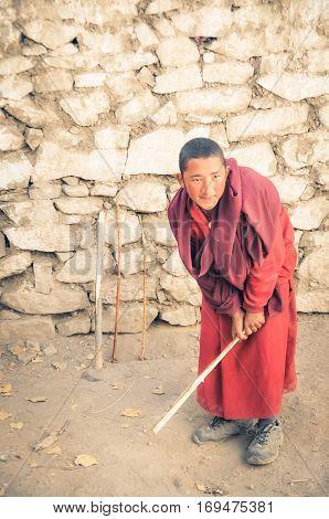 Cricket In Monastery In Ladakh