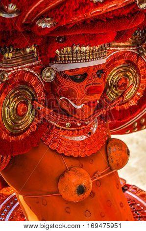 Worship Of Goddess Kali. In Kerala