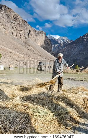 Working Man In Khorog In Tajikistan
