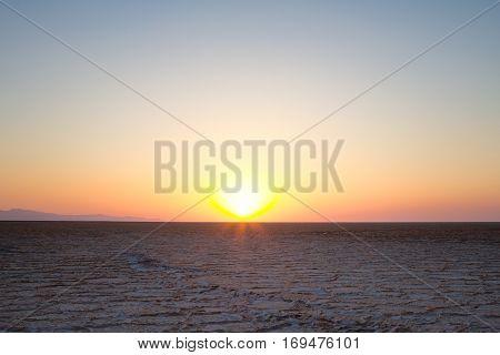 Namak salt lake at Sunset in Maranjab desert near Kashan Iran Namak Lake (Daryacheh-ye Namak) (Persian for Salt Lake) is a salt lake in Iran. It is located approximately 100 km (62 mi) east of the City of Qom and 60 km (37 mi) of Kashan