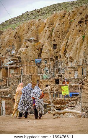 Rocky Village In Iran