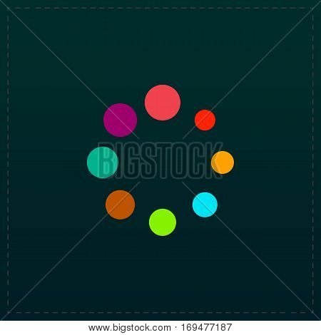 Loading, Streaming, Buffering, Play, Go. please wait. Color symbol icon on black background. Vector illustration