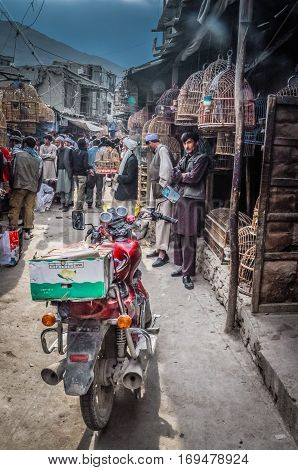 Motocycle In Kabul In Afghanistan