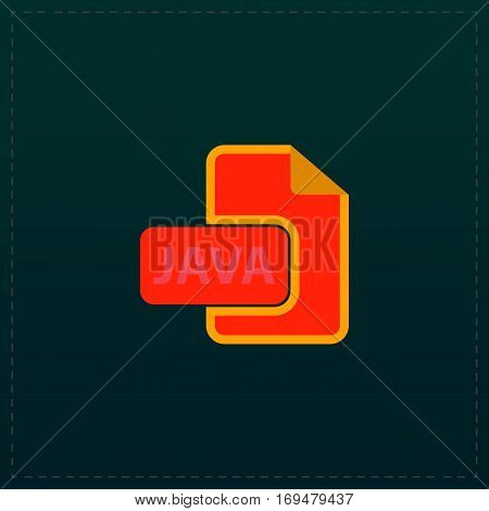 JAVA development file format. Color symbol icon on black background. Vector illustration
