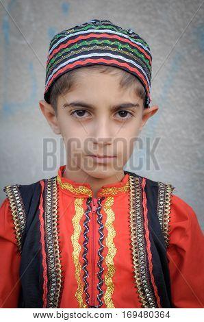 Iranian Boy In Folk Costume In Iran