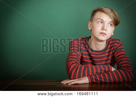 Thoughtful Trendy Young Teenage Boy