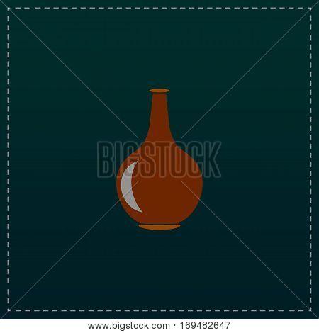 Amphora. Color symbol icon on black background. Vector illustration