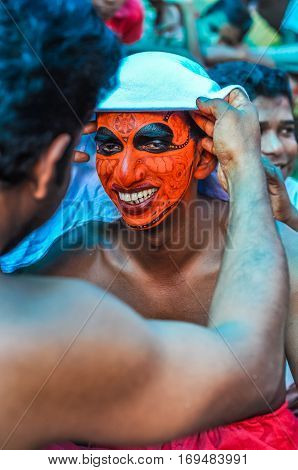 Making Of Mask In Kerala
