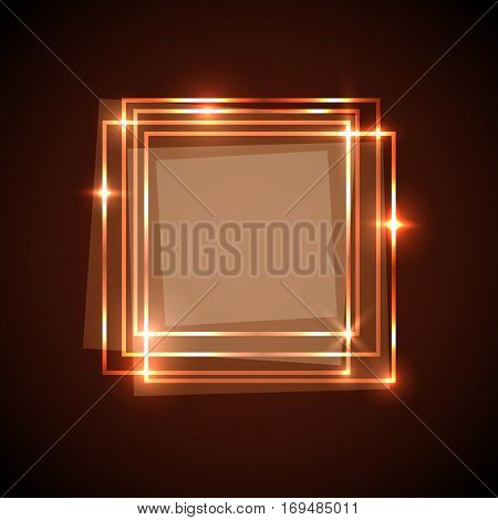 Abstract background with orange squares banner, stock vector
