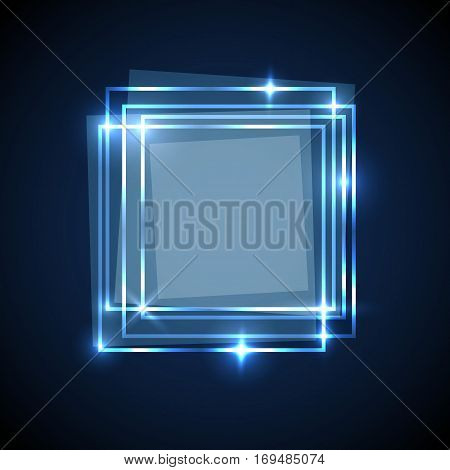 Abstract background with blue squares banner, stock vector