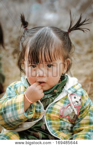Small Girl In Arunachal Pradesh