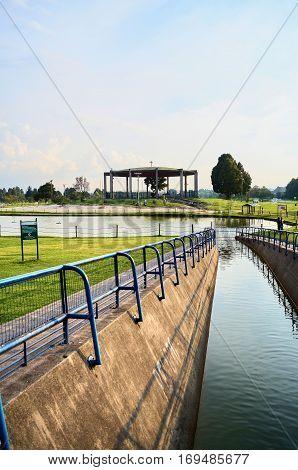 View Of The Lake Of Simon Bolivar Park