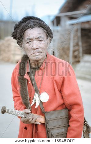 Man With Sword In Arunachal Pradesh