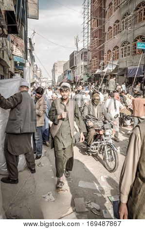 Market Full Of People In Afghanistan