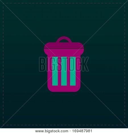 Urn. Color symbol icon on black background. Vector illustration