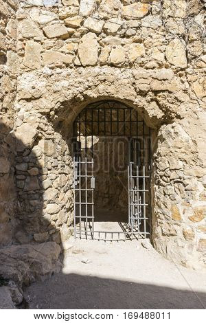 Iron door, Town of Consuegra in the province of Toledo, Spain