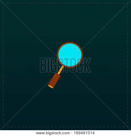 Search Searching Looking For Research Information. Color symbol icon on black background. Vector illustration